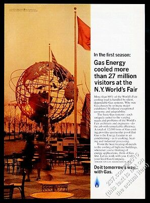 1964 New York World's Fair Unisphere photo AGA Gas vintage print ad