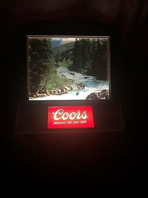 Coors Motion Lighted Beer Bar Sign  Super Clean