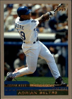 2000 Topps Limited Los Angeles Dodgers Baseball Card #109 Adrian Beltre/4000