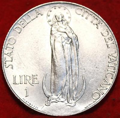 Uncirculated 1941 Vatican City 1 Lire Foreign Coin