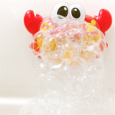 NEW Novelty Crab Bubble Machine Musical Bubble Maker Bath Baby Toy Fun Shower US