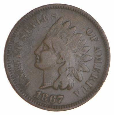 BETTER- 1867 Indian Head Cent Penny - Tough Coin *150