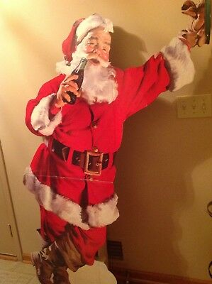 1950's cardboard 6' Coca Cola Santa great condition