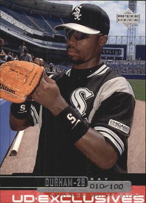2000 Upper Deck Exclusives Silver White Sox Baseball Card #77 Ray Durham/100