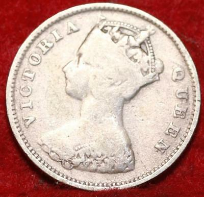 1897 Hong Kong 10 Cents Silver Foreign Coin