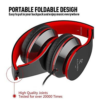 AILIHEN Wired Headphones with Microphone, Stereo Foldable Lightweight On Ear for