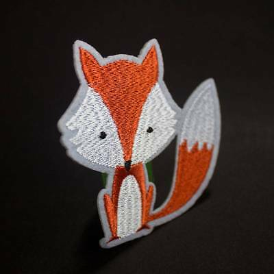 Fox Embroidery Iron on Patches Clothes Appliques DIY Embellishment Accessories