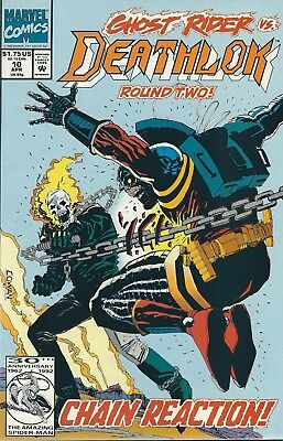 "Deathlok ""ghost Rider"" #10 (1992) Marvel Comics Fn+"