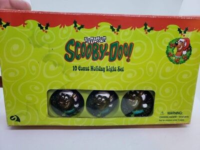 Gemmy Scooby-Doo Wreath Lighted Christmas String Set NEW in Box Holiday CUTE!