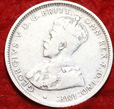 1926 Australia 1 Shilling Silver Foreign Coin