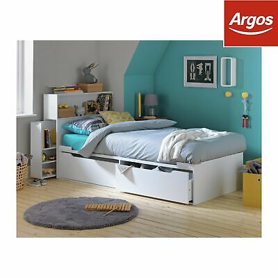 Argos Home Lloyd 2 Drawer Cabin Bed & Headboard Storage - White