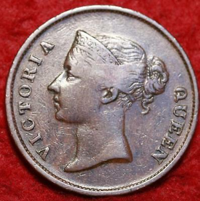 1862 Straits Settlements 1 Cent Foreign Coin