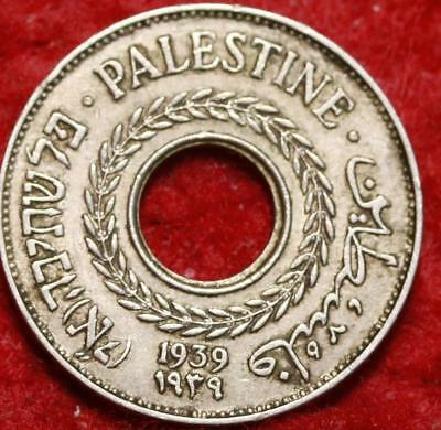1939 Palestine 5 Mils Foreign Coin