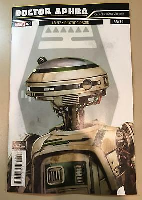 Star Wars Doctor Aphra #26 Reis Galactic Icon Variant L3-37 Piloting Droid #33