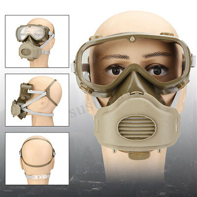 Full Face Mask Goggles Respirator Dust Smoke Filter Painting Spraying Protector