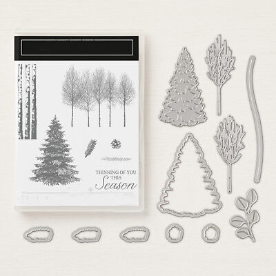 Thanking Season Christmas Tree Metal Cutting Dies Clear Stamp Handcraft Winter