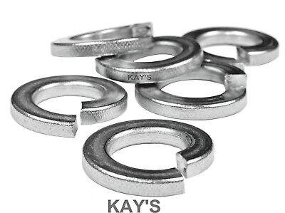 "Unc Unf Bsw Bsf Spring Washers 3/16,1/4,5/16,3/8,7/16,1/2,5/8,3/4"" Zinc Square"