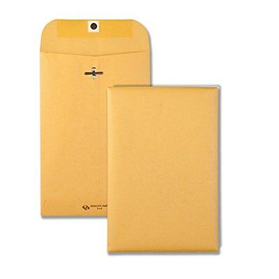 Quality Park Clasp Envelope, 55, 6 x 9, 28lb, Brown Kraft, 100/Box 37855