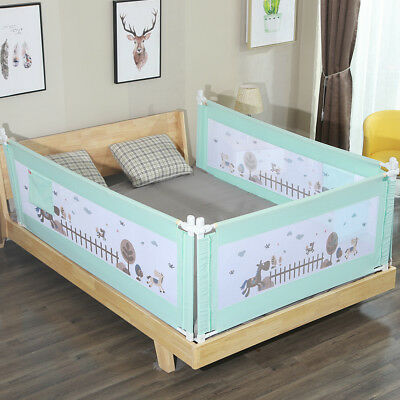 1.5 - 2m Baby Safety Polyester Fence Adjustable Children Infant Bed Guardrail