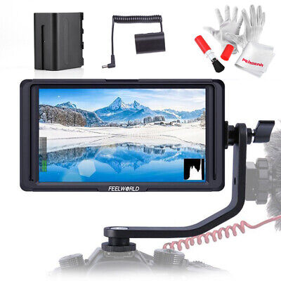 "Feelworld F6S 5"" IPS 1920 x 1080 4K HDMI Camera Monitor+Battery Pack+ Bag"