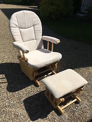 Nursing Chair And Stool Used Beige Dirty Marks On Chair