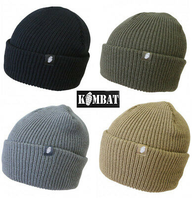 Mens Army Combat Military Tactical Beanie Winter Bob Ski Hat Black Green Grey