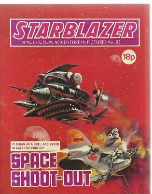 Space Shoot-Out,starblazer Space Fiction Adventure In Pictures,comic,no.82