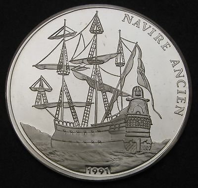 CONGO REPUBLIC 500 Francs 1991 Proof - Silver - Old Ships - 1267