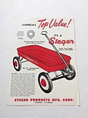 Steger Products MFG. Corp. Advertisement Steger Wagon