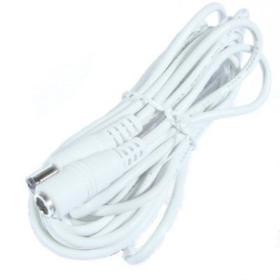 Hanvex HDCQ12W 12ft 2.1mm x 5.5mm DC Plug Power Adapter Extension Cable, 20AWG