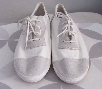 c52744a09707 Fred Perry Nigel Cabourn White Canvas   Suede 1928 Table Tennis Sneakers  Size 10