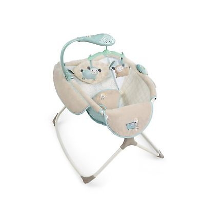 Baby Ingenuity Moonlight Rocking Sleeper Newborn Soft Bassinet Beds Lullaby Lamb