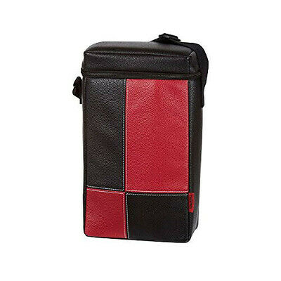 RED THERMOS Two Bottle Insulated Compartments Bag Carry Picnic Wine Cooler Bag
