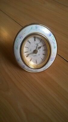 Beautiful Little West German Porcelain Alarm Clock-Battery Operated