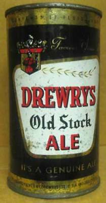DREWRYS OLD STOCK ALE Flat Top Beer CAN with MOUNTY, South Bend, INDIANA 1959