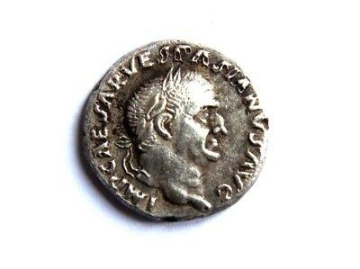 Rare Roman Imperial Silver Vespasian Seal Matrix coin 69-79 AD