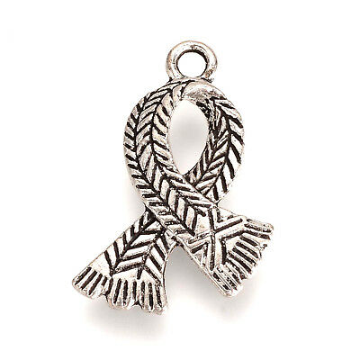 20 Winter Scarf Charms Harry Potter School Christmas 23mm Antique Silver P00204F