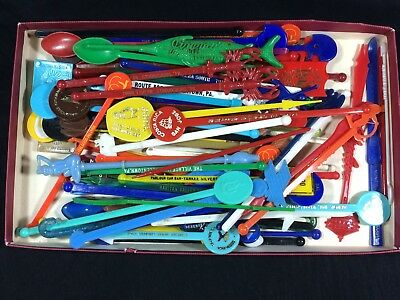 85 Swizzle Stick Drink Stirrers Lot Airlines Hotel Restaurant Bar