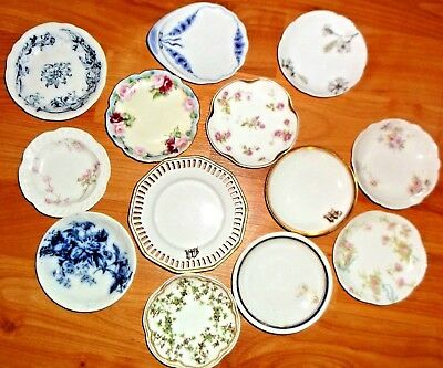 Lot of 13  Porcelain China Butter Pats Haviland France plus