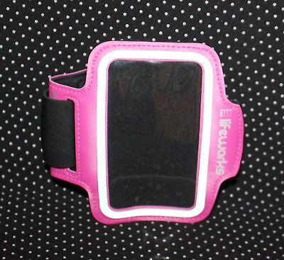 "Gym Sports Running Armband Case Cover For iPhone 6 5.5"" Plus Hot Pink"