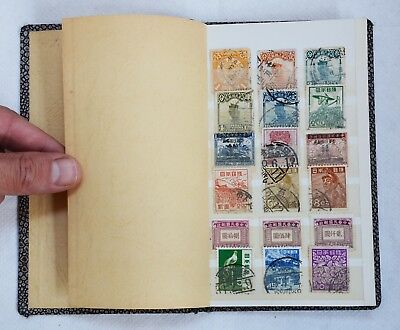 Collection of CHINESE & JAPANESE Antique / Vintage Postage Stamps in Small Album