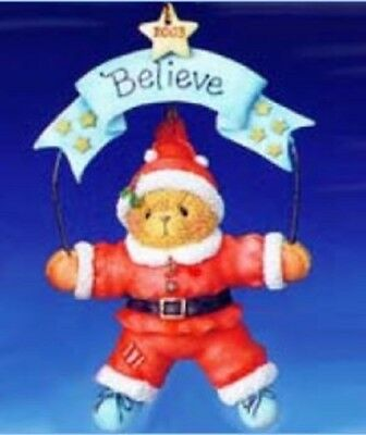 "Cherished Teddies ""believe"" 2003 Dated Ornament 112392  New *  Free Shipping"