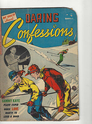Daring Confessions #6 thrilling Love stories Romance comic 1953 Goldenage