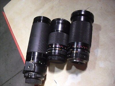THREE !! Lenses Two Pentax # 795555 # 891810 & Vivitar # 09951132 Sold As Is