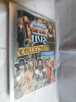 WWE wrestling Topps Slam Attax trading card binder with 159 cards