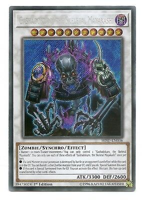 Gashadokuro, the Skeletal Mayakashi HISU-EN036 Secret Rare Yu-Gi-Oh Card 1st New