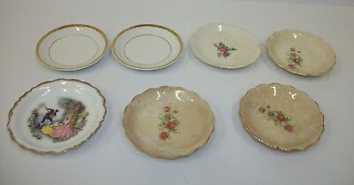 Estate Lot of 7 Vintage Antique Butter Pats