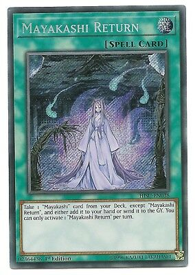 Mayakashi Return HISU-EN038 Secret Rare Yu-Gi-Oh Card 1st Edition New