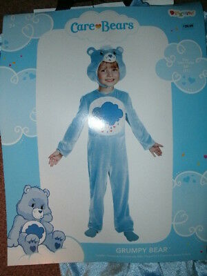 CHILD CARE BEAR COSTUME *GRUMPY BEAR* size 2T NEW WITH PACKAGING