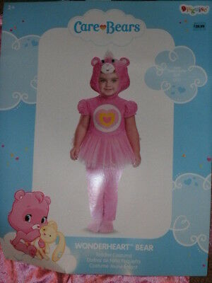 CHILD CARE BEAR COSTUME *WONDERHEART BEAR* size 2T NEW WITH PACKAGING